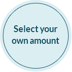 Select your own donation amount